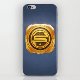 Golden S 3D Emblem iPhone Skin