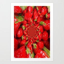 Strawberry Bed Dreamscape Art Print
