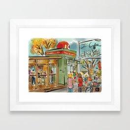 Jo's Coffee in Austin, TX Framed Art Print