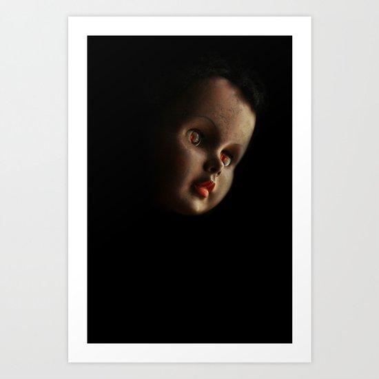 Doll head (original) Art Print