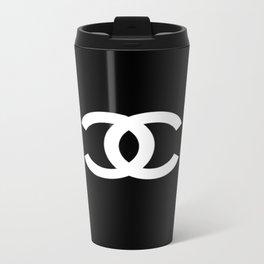 BLACK DOUBLE C Travel Mug