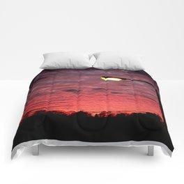 British Winter Sunset Comforters