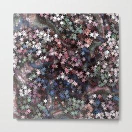 Stars in Pink, Blue and Sage Metal Print