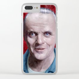 Hannibal Lecter Clear iPhone Case