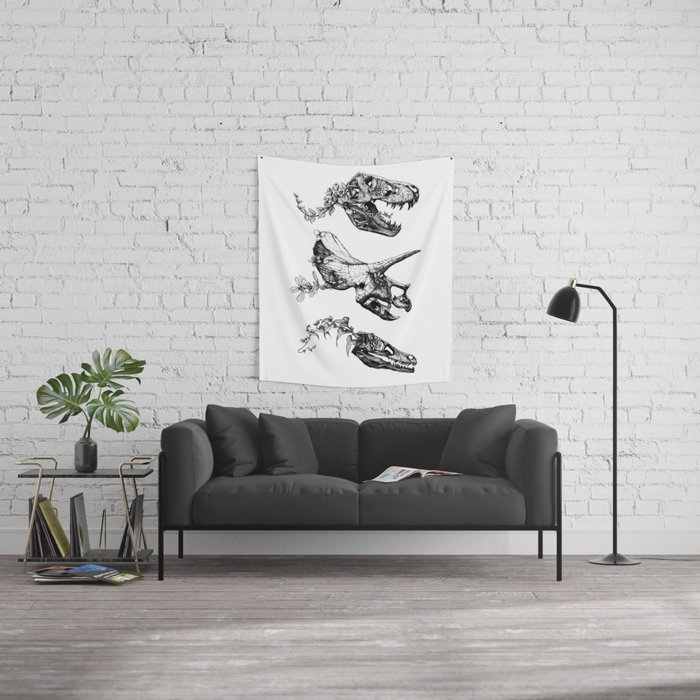 Jurassic Bloom. Wall Tapestry