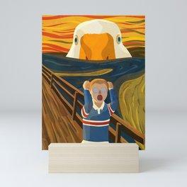 The Honk - The Scream Parody   Goose MEME Mini Art Print
