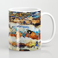 moon phase Mugs featuring Phase Abstract by Stevyn Llewellyn