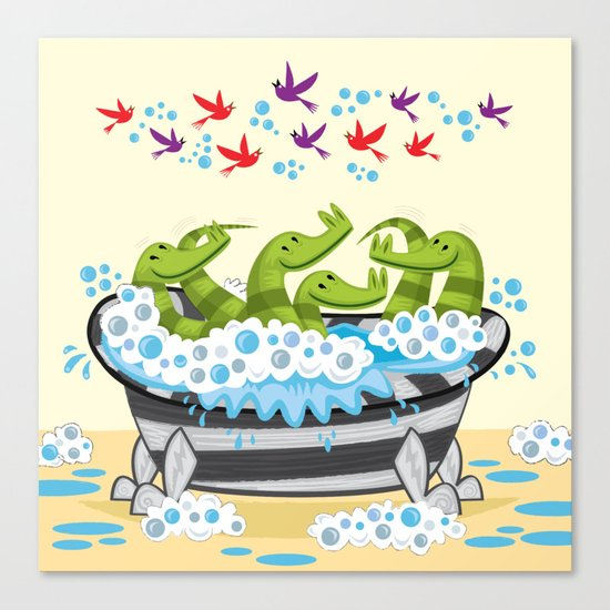 Crocodile Soup Canvas Print