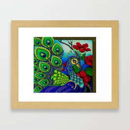 Peacock ZIA Framed Art Print