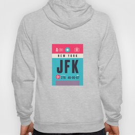 Baggage Tag A - JFK New York John F. Kennedy USA Hoody