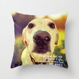 Yellow Lab (Dog) Throw Pillow