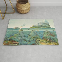 Vintage Pictorial World Ecosystem Map (1893) Rug