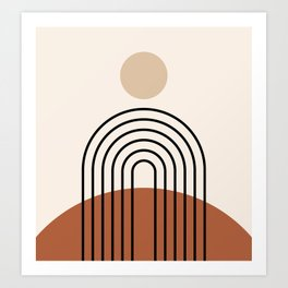 Abstraction_SUN_LINE_BOHEMIAN_LANDSCAPE_POP_ART_1129B Art Print