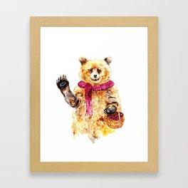 Bear says Hello Framed Art Print