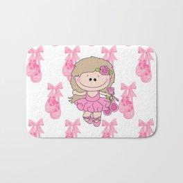 Little Ballerina in Pink Bath Mat
