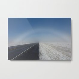 """""""Under the Fogbow We Go,"""" Metal Print"""