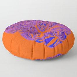 breaking heart in acid contrast Floor Pillow
