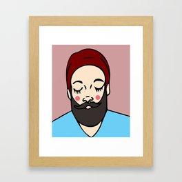 Sweet Beardy Man Framed Art Print
