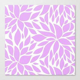 Bloom - lavender Canvas Print