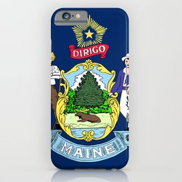 Maine State Flag iPhone Case