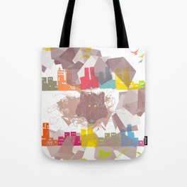 """""""the wolf in the town"""" Tote Bag"""