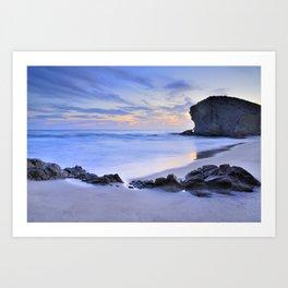 Monsul beach at sunset Art Print