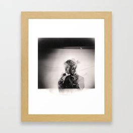 Studio Double Exposure Framed Art Print