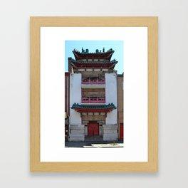 Old Philadelphia Chinatown building - original Framed Art Print