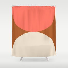 Terracotta, Coral, Ivory Decor Shower Curtain