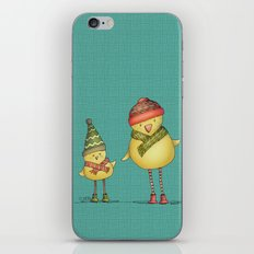 Two Chicks - teal iPhone & iPod Skin