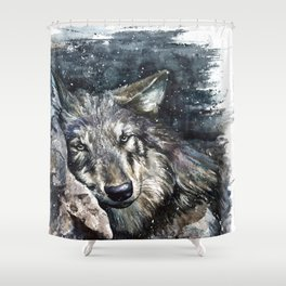Wolf Wild and Free Shower Curtain