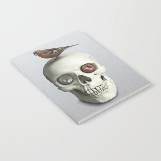 Skull & bird, watercolor Notebook