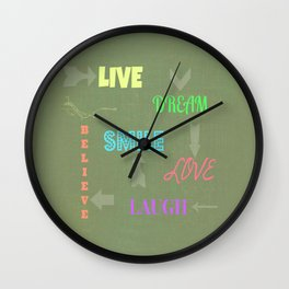 Live Dream Smile Wall Clock