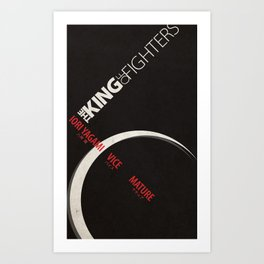 Yagami Team Minimal (King of Fighters XIII series) Art Print