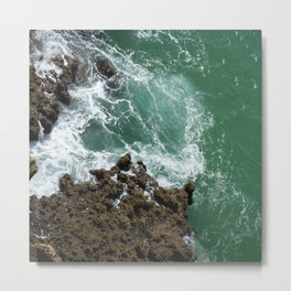 Green Ocean Atlantique Metal Print