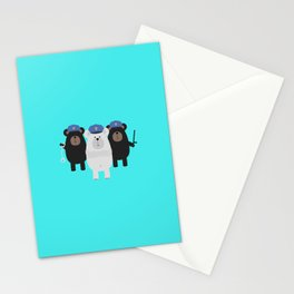 Grizzly Police Officer Stationery Cards