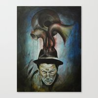 tom waits Canvas Prints featuring Tom Waits by Victoria Lavorini