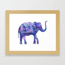 Henna Elephant, Print A Framed Art Print