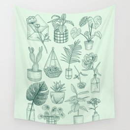 PLANTS LOVER Wall Tapestry