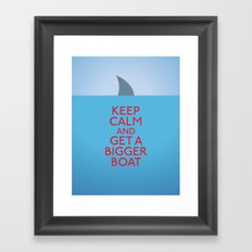 Get a bigger boat Framed Art Print