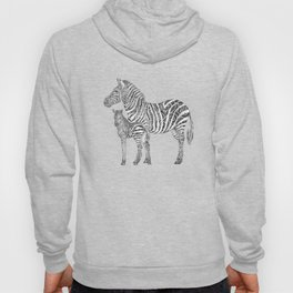 Swirly Zebra Family Hoody