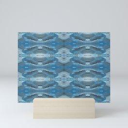 Mirrored Shades of Blue Mini Art Print
