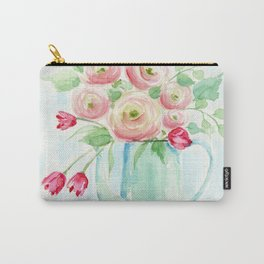 Tulips and French Enamelware Carry-All Pouch