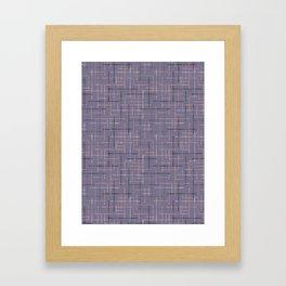 Criss Cross Lavender Maze Vector Pattern Framed Art Print