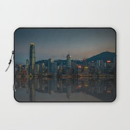 Hong Kong Skyline at Dusk Laptop Sleeve