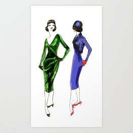 50's Style and Glamour Art Print
