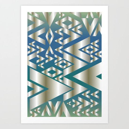 Golden Beat Art Print