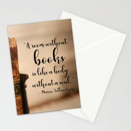 A room without books Stationery Cards