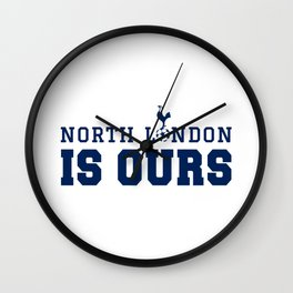 """Tottenham hotspurs tshirt, The Spurs to Dare is to Do """"Audere est Facere"""" champions league final mad Wall Clock"""