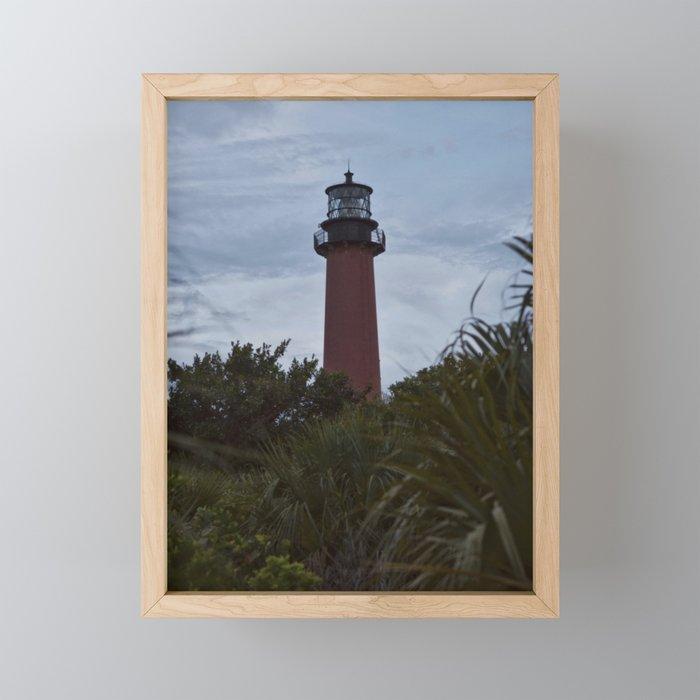 Jupiter Lighthouse Framed Mini Art Print